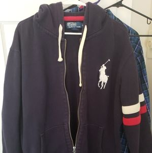 Mens polo ralph lauren full zipper hoodie jacket